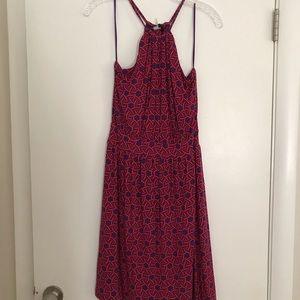 Pattern halter dress
